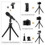 K&F Concept Mini Trepied Flexible Smartphone 12'' Portable avec Télécommande Bluetooth Support Gopro, Adaptateur Téléphone, Microphone, Appareil Photo Reflex de la marque K&F CONCEPT image 2 produit