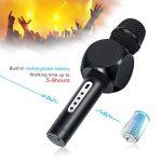 Karaoké Microphone NASUM de Charimaliy Microphone Musique à Main Bluetooth Compatible avec Smartphone/Android/IOS/PC, pour Adultes et Enfants Chanter Jouer Faire la Fête de la marque NASUM image 1 produit