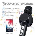 Karaoké Microphone NASUM de Charimaliy Microphone Musique à Main Bluetooth Compatible avec Smartphone/Android/IOS/PC, pour Adultes et Enfants Chanter Jouer Faire la Fête de la marque NASUM image 3 produit