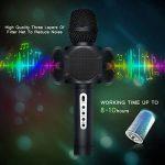 Karaoké Microphone NASUM de Charimaliy Microphone Musique à Main Bluetooth Compatible avec Smartphone/Android/IOS/PC, pour Adultes et Enfants Chanter Jouer Faire la Fête de la marque NASUM image 4 produit