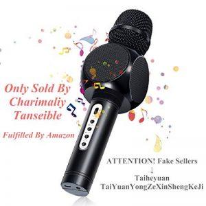 Karaoké Microphone NASUM de Charimaliy Microphone Musique à Main Bluetooth Compatible avec Smartphone/Android/IOS/PC, pour Adultes et Enfants Chanter Jouer Faire la Fête de la marque NASUM image 0 produit