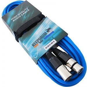 keepdrum MC-001X xbl Bleu 10m câble microphone XLR femelle vers XLR mâle et attache-câbles Velcro de la marque Keepdrum image 0 produit