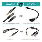 KINGTOP Câble Adaptateur Audio 3,5mm Mâle vers Double Sorties Jack 3,5mm Femelle Répartiteur Audio et Micro de la marque KINGTOP image 1 produit