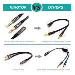 KINGTOP Câble Audio 3.5mm Câble Adaptateur Jack Stéréo Audio Mâle vers Femelle (Noir) de la marque KINGTOP image 1 produit