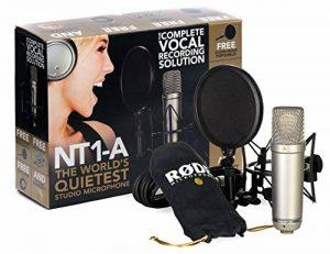 """Kit RODE NT1-A Complete Vocal Recording - 1"""" Cardioid Condenser Microphone + SM6 Shock Mount with Detachable Pop Filter de la marque Rode Microphones image 0 produit"""