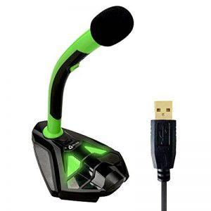 Klim k345 Voice Microphone à Pied USB pour Ordinateur - Micro de Bureau - Microphone de Gamer PC PS4 (Vert) de la marque KLIM image 0 produit