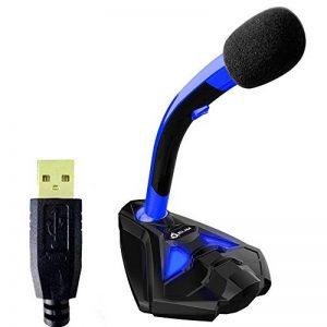 KLIM Voice Microphone à Pied USB pour Ordinateur - Micro de Bureau Professionnel - Microphone de Gamer PC PS4 - Nouvelle Version 2019 - Bleu de la marque KLIM image 0 produit