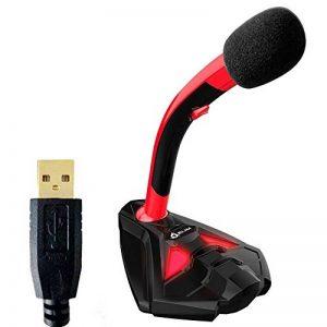 KLIM Voice Microphone à Pied USB pour Ordinateur - Micro de Bureau Professionnel - Microphone de Gamer PC PS4 - Nouvelle Version - Rouge de la marque KLIM image 0 produit