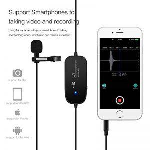 Lavalier Micro cravate, 6M , 20feet, Zhuosheng Lapel Mic mains libres avec omnidirectionnel à condensateur pour caméra, iPhone, Smartphone, DSLR, caméscope, DV, enregistrement de la marque zhuosheng image 0 produit