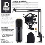 LIAM & DAAN - Microphone à condensateur + Support de Bras réglable + Suspension Antichoc + 1 Filtre Anti-Pop + 1 Filtre Anti-Vent | Microphone de Studio Phantom +48V | Câble XLR/Jack 3,5mm Inclus de la marque LIAM & DAAN image 1 produit