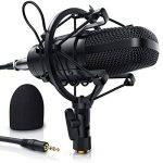 LIAM & DAAN - Microphone à condensateur + Support de Bras réglable + Suspension Antichoc + 1 Filtre Anti-Pop + 1 Filtre Anti-Vent | Microphone de Studio Phantom +48V | Câble XLR/Jack 3,5mm Inclus de la marque LIAM & DAAN image 3 produit