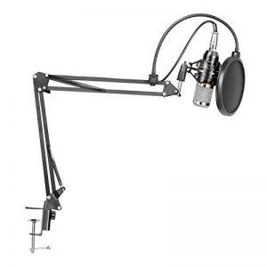 LYPULIGHT BM-800 Microphone à Condensateur Professionel Enregistrement Studio Radio Kit avec Bras de suspension pour d'enregistrement réglable avec support antichocs et kit de pince de fixation de la marque LYPULIGHT image 0 produit