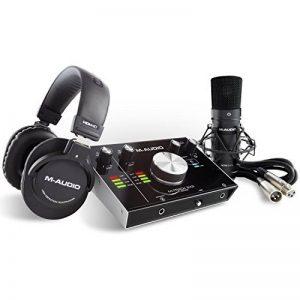 M-Audio M-Track 2x2 Vocal Studio Pro - Pack d'Enregistrement avec Interface M-Track 2x2, Microphone à Condensateur Nova, Câble XLR, Casque Audio HDH40 et Série de Logiciels de Musique de la marque M-Audio image 0 produit