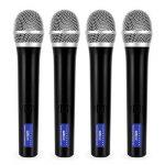 Malone UHF-550 Quartett 1 • Set de microphones sans fil 4 canaux UHF • Système de microphones sans fil • 4 microphones à main sans fil • Bande de fréquences : 823-832 MHz • Grande autonomie • Noir de la marque Malone image 2 produit