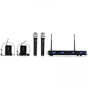 Malone UHF-550 Quartett 4 • Set de microphones sans fil 4 canaux UHF • Système de microphones sans fil • 2 microphones à main sans fil • Grande autonomie • Noir de la marque Malone image 0 produit