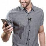 Micro Cravate pour Téléphone, Gyvazla 3.5mm Audio Jack Omnidirectionnel Microphone Condensateur Tie Clip on pour Youtube / Interview / Podcast / Vidéo, Projet pour IOS / Andriod / Windows / Mac (2m) de la marque Gyvazla image 1 produit