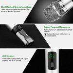Micro sans fil Karaoké 2 Microphone UHF 10 Canaux avec 1 Récepteur Bluetooth (batterie au lithium intégrée)+2 Connecteur de 6.35 et 3.55 Micro HF à Main Dynamiques Portables pour Haut-parleurs Fête de la marque ARCHEER image 4 produit