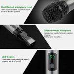 Micro sans fil Karaoké Microphone UHF 10 Canaux avec 1 Récepteur Bluetooth (batterie au lithium intégrée)+2 Connecteur de 6.35 et 3.55 Micro HF à Main Dynamiques Portables pour Haut-parleurs DJ Fête de la marque ARCHEER image 4 produit