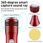 Microphone Bluetooth Sans Fil, Mini Portable Microphone Karaoke Enfants Microphone Enceinte Player Enregistrement des Chansons Compatible avec iPhone Android PC iPad pour Jouer de la Musique - (Rouge) de la marque WOSTOO image 2 produit
