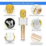 Microphone bluetooth sans fil ,Multi-fonction micro karaoke avec des lumières clignotantes(Or de luxe) de la marque MagicLux Tech image 2 produit
