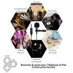 Microphone Cravate Professionnel Omnidirectionnel à Condensateur Avec Clip Lavalier 3.5mm Audio Jack 1.5M Universel pour Smartphones et PC IOS Andriod Windows Mac Sac de Rangement 3 Anti-Spray Éponge de la marque OKWINT image 2 produit