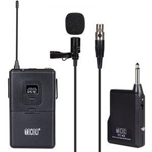 Microphone Cravate sans Fil VHF Micro Lavalier Revers avec Émetteur Récepteur pour Parole Conférence Performance Scénique de la marque Tonor image 0 produit