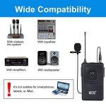 Microphone Cravate sans Fil VHF Micro Lavalier Revers avec Émetteur Récepteur pour Parole Conférence Performance Scénique de la marque Tonor image 2 produit
