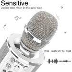Microphone Karaoké Sans Fil de TechStone - Micro sans fil 2-en-1 professionnel bluetooth - Haut-parleur intégré pour KTV, musique, soirées, fêtes en plein air, chant – Compatible iPhone, Android, PC de la marque TechStone image 1 produit