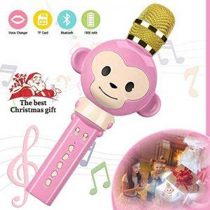 Microphone Karaoke,OXOQO Karaoke Enfants,3 en 1 Micro Karaoke sans Fil Bluetooth, Cadeaux de Noël pour Enfant Chanter Home KTV Player Musique Système Intégré USB pour Android IOS PC Smartphone de la marque OXOQO image 0 produit