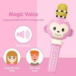 Microphone Karaoke,OXOQO Karaoke Enfants,3 en 1 Micro Karaoke sans Fil Bluetooth, Cadeaux de Noël pour Enfant Chanter Home KTV Player Musique Système Intégré USB pour Android IOS PC Smartphone de la marque OXOQO image 4 produit