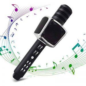 Microphone Karaoke, SYOSIN Microphone Karaoké Sans Fil Portable Bluetooth avec 2 Haut-Parleur Bluetooth Intégré pour PC/Smartphone Android & iOS de la marque SYOSIN image 0 produit