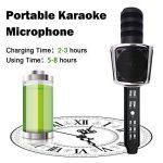 Microphone Karaoke, SYOSIN Microphone Karaoké Sans Fil Portable Bluetooth avec 2 Haut-Parleur Bluetooth Intégré pour PC/Smartphone Android & iOS de la marque SYOSIN image 4 produit