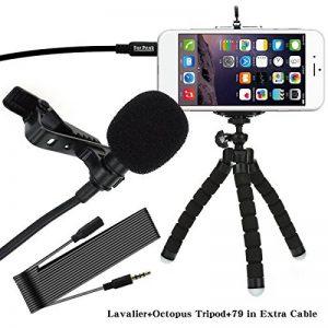 Microphone Lapel Lavalier Omnidirectional Condenser Mic avec Flexible Mini Octopus Trépied de la marque Art Studio image 0 produit