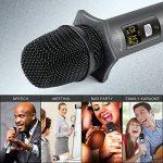 Microphone Sans Fil Bluetooth Ansteker 10 Canaux UHF Micro Sans Fil Professionnel avec Mini Récepteur Bluetooth Micro Main pour Utilisation Domestique Bar KTV Karaoké/Fête/ Conférence/Spectacle de la marque Ansteker image 4 produit