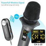 Microphone Sans Fil Bluetooth Ansteker 10 Canaux UHF Micro Sans Fil Professionnel avec Mini Récepteur Bluetooth Micro Main pour Utilisation Domestique Bar KTV Karaoké/Fête/ Conférence/Spectacle de la marque Ansteker image 1 produit