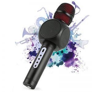 Microphone Sans Fil Karaoké avec 2 Haut-Parleur Bluetooth Intégré, Karaoké Portable pour Chanter, Compatible avec Android/IOS/PC/Smartphone (Black) de la marque Fede image 0 produit