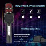 Microphone Sans Fil Karaoké avec 2 Haut-Parleur Bluetooth Intégré, Karaoké Portable pour Chanter, Compatible avec Android/IOS/PC/Smartphone (Black) de la marque Fede image 4 produit