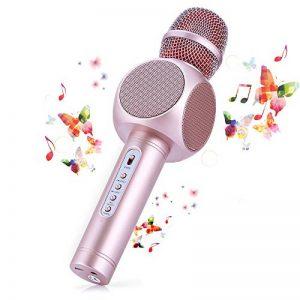 Microphone Sans Fil Karaoké avec 2 Haut-Parleur Bluetooth Intégré, Karaoké Portable pour Chanter, Compatible avec Android/IOS / PC/Smartphone de la marque Fede image 0 produit