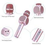 Microphone Sans Fil Karaoké avec 2 Haut-Parleur Bluetooth Intégré, Karaoké Portable pour Chanter, Compatible avec Android/IOS / PC/Smartphone de la marque Fede image 1 produit