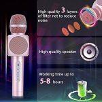 Microphone Sans Fil Karaoké avec 2 Haut-Parleur Bluetooth Intégré, Karaoké Portable pour Chanter, Compatible avec Android/IOS / PC/Smartphone de la marque Fede image 3 produit