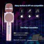 Microphone Sans Fil Karaoké avec 2 Haut-Parleur Bluetooth Intégré, Karaoké Portable pour Chanter, Compatible avec Android/IOS / PC/Smartphone de la marque Fede image 4 produit