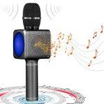 Microphone Sans Fil Karaoké Portable Bluetooth avec 2 Haut-Parleur Bluetooth Intégré,4 en 1 Pour Android & iOS,Karaoké Pour Chanter à La Maison, KTV, Anniversaire de Fête, Enregistrement(Gris foncé) de la marque bhdlovely image 4 produit
