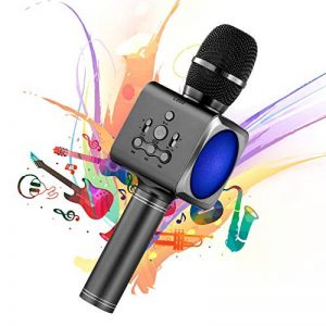 Microphone Sans Fil Karaoké Portable Bluetooth avec 2 Haut-Parleur Bluetooth Intégré,4 en 1 Pour Android & iOS,Karaoké Pour Chanter à La Maison, KTV, Anniversaire de Fête, Enregistrement(Gris foncé) de la marque bhdlovely image 0 produit