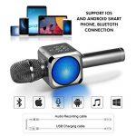 Microphone Sans Fil Karaoké Portable Bluetooth avec 2 Haut-Parleur Bluetooth Intégré,4 en 1 Pour Android & iOS,Karaoké Pour Chanter à La Maison, KTV, Anniversaire de Fête, Enregistrement(Gris foncé) de la marque bhdlovely image 2 produit
