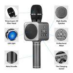 Microphone Sans Fil Karaoké Portable Bluetooth avec 2 Haut-Parleur Bluetooth Intégré,4 en 1 Pour Android & iOS,Karaoké Pour Chanter à La Maison, KTV, Anniversaire de Fête, Enregistrement(Gris foncé) de la marque bhdlovely image 3 produit