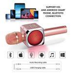 Microphone Sans Fil Karaoké Portable Bluetooth avec 2 Haut-Parleur Bluetooth Intégré,4 en 1 Pour Android & iOS,Karaoké Pour Chanter à La Maison, KTV, Anniversaire de Fête, Enregistrement (Rose) de la marque bhdlovely image 2 produit