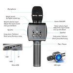 Microphone Sans Fil Karaoké Portable Bluetooth avec 2 Haut-Parleur Bluetooth Intégré,4 en 1 Pour Android & iOS,Karaoké Pour Chanter à La Maison, KTV, Anniversaire de Fête, Enregistrement(Gris foncé) de la marque bhdlovely image 1 produit