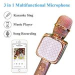 Microphone Sans Fil Karaoké, Portable Karaoké Microphone avec 2 Haut-Parleur Bluetooth Intégré, Micro Sans Fil Hf Dynamique Compatible avec Android/IOS/ PC/Smartphone, Cadeau pour Adult et Enfant de la marque Solgan image 4 produit