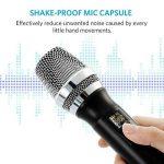 Microphone Sans Fil Micro Karaoké UHF avec 1 Récepteur + 2 Connecteur de 6,35 mm et de 3.55mm Micro Karaoké HF Récepteur Professionne à Main pour Karaoké Haut-parleurs PA, DJ, Fête (Pile non Fourni) de la marque ARCHEER image 3 produit