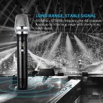 Microphone Sans Fil Micro Karaoké UHF avec 1 Récepteur + 2 Connecteur de 6,35 mm et de 3.55mm Micro Karaoké HF Récepteur Professionne à Main pour Karaoké Haut-parleurs PA, DJ, Fête (Pile non Fourni) de la marque ARCHEER image 2 produit